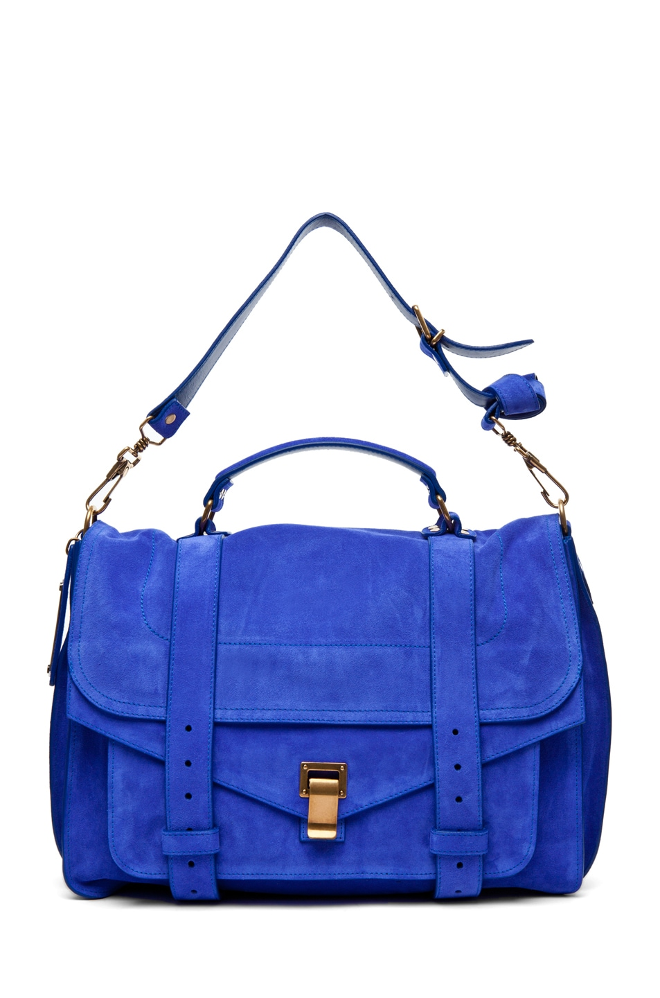 Image 5 of Proenza Schouler PS1 Large Suede  in Cobalt
