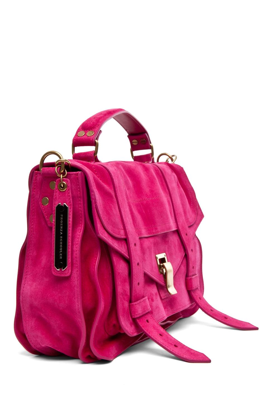 Image 3 of Proenza Schouler PS1 Medium Suede in Hot Pink