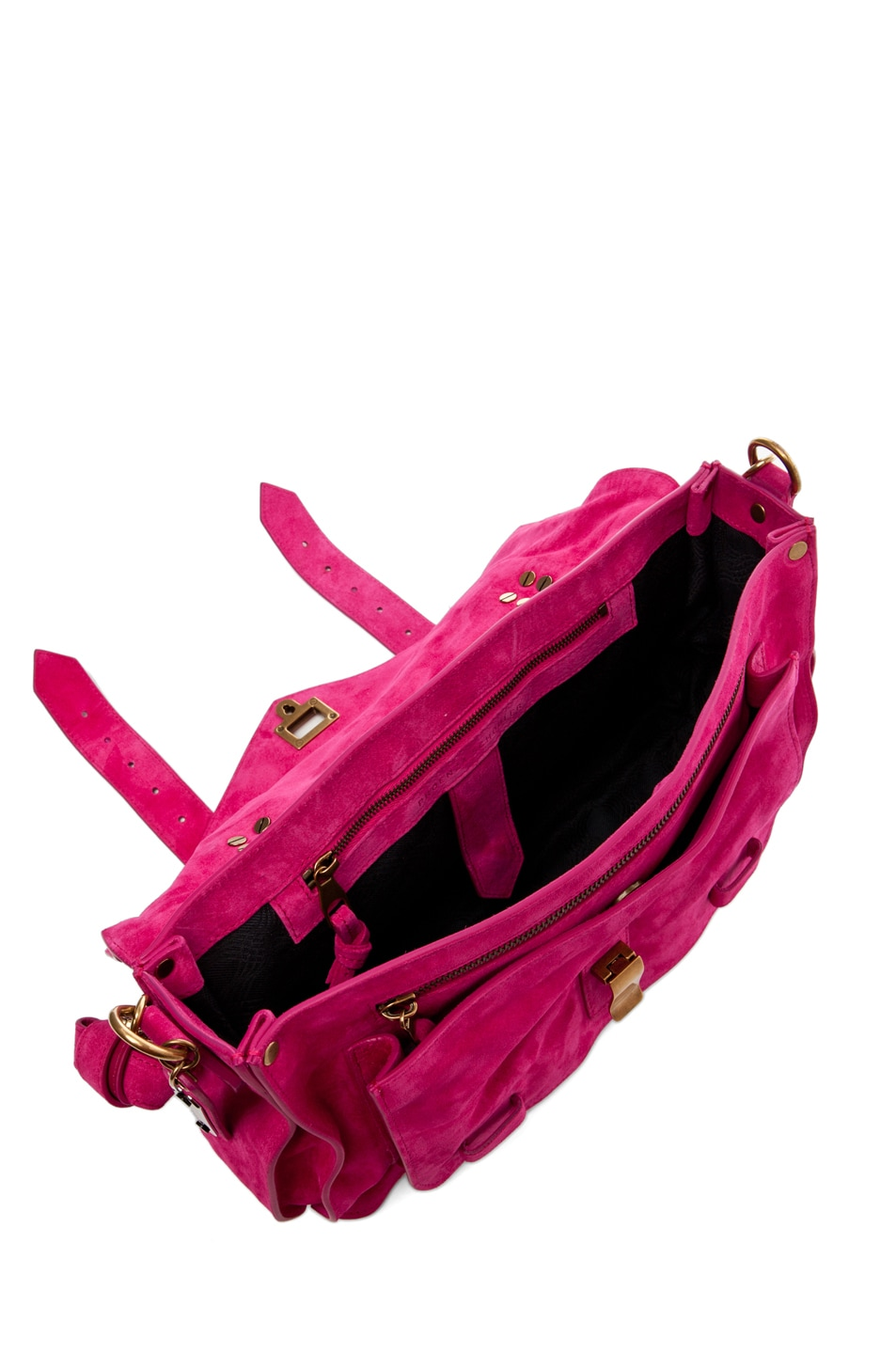 Image 4 of Proenza Schouler PS1 Medium Suede in Hot Pink