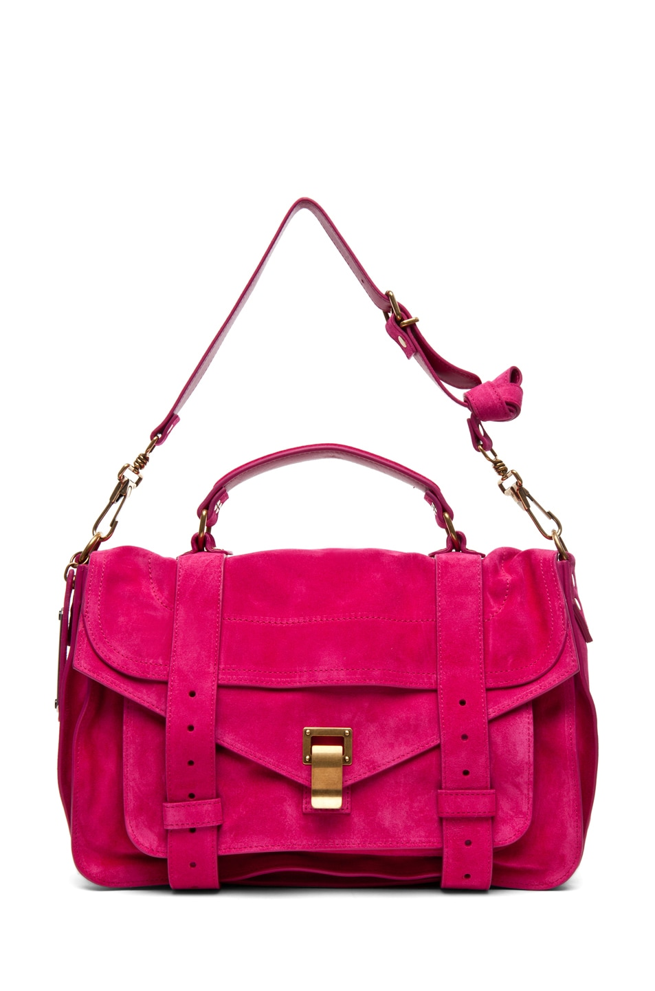 Image 5 of Proenza Schouler PS1 Medium Suede in Hot Pink