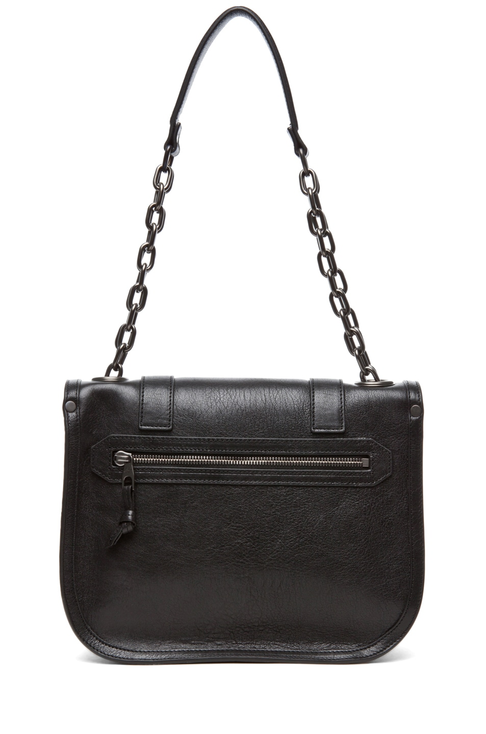 Image 2 of Proenza Schouler PS1 Mini Messenger Leather in Black