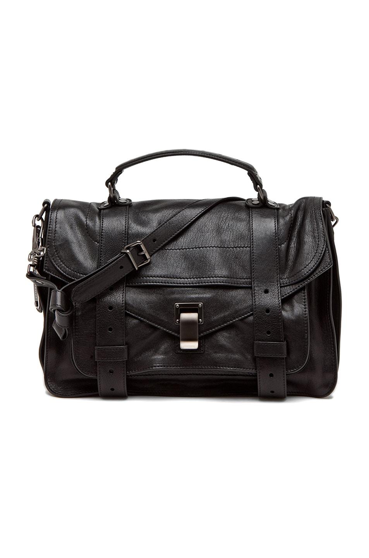 Image 1 of Proenza Schouler Medium PS1 Leather in Black