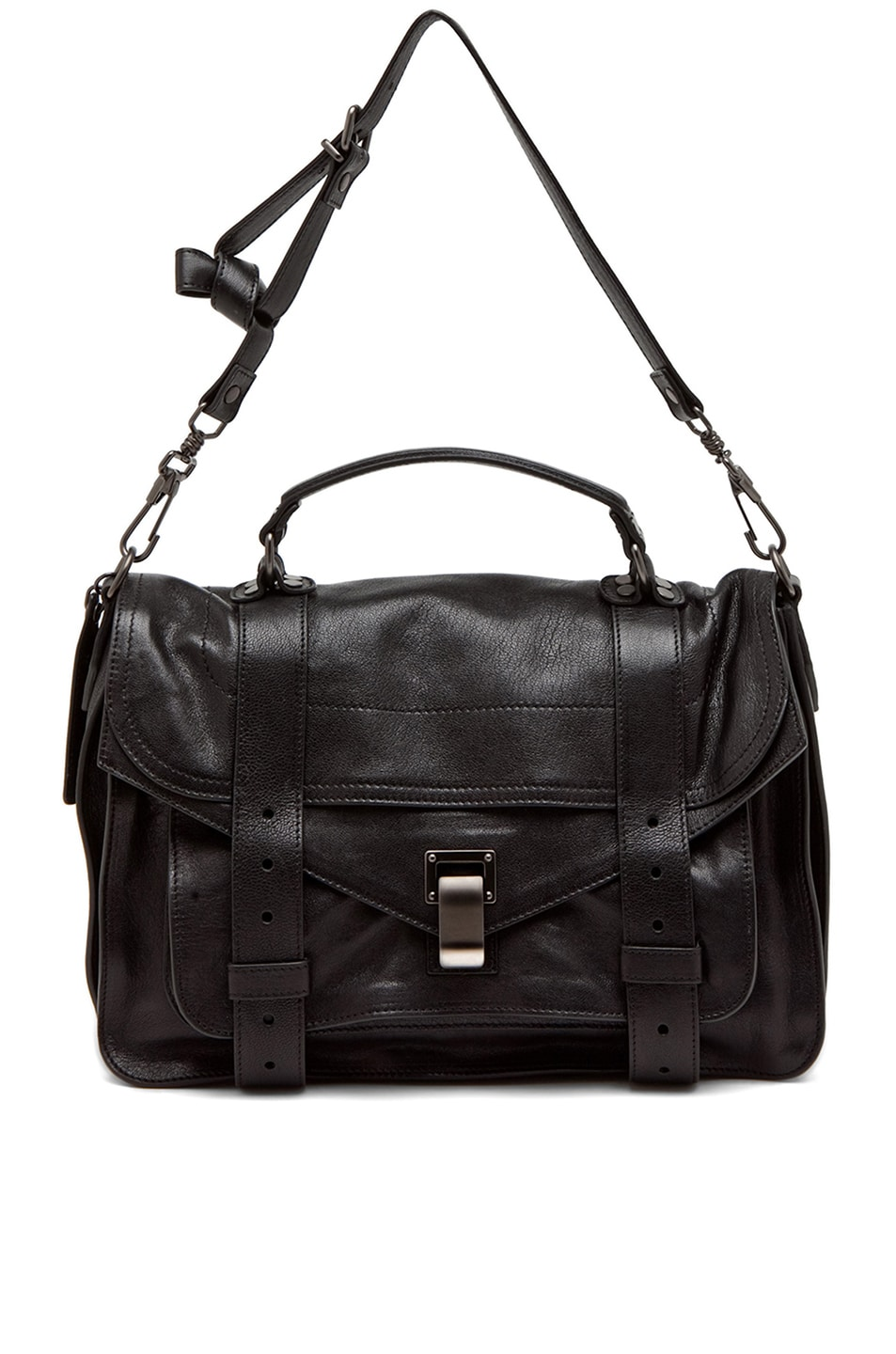 Image 6 of Proenza Schouler Medium PS1 Leather in Black