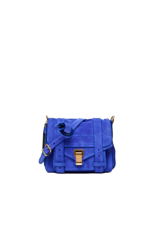 Image 1 of Proenza Schouler PS1 Pouch Suede in Cobalt