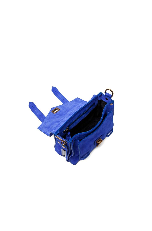 Image 4 of Proenza Schouler PS1 Pouch Suede in Cobalt