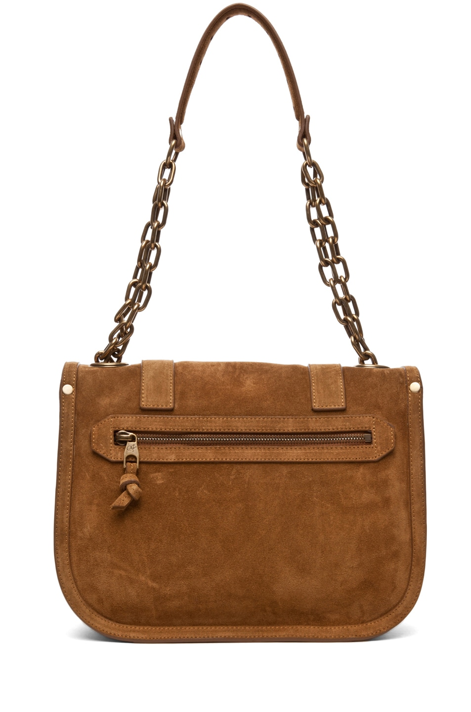 Image 2 of Proenza Schouler PS1 Mini Messenger Suede in Tobacco