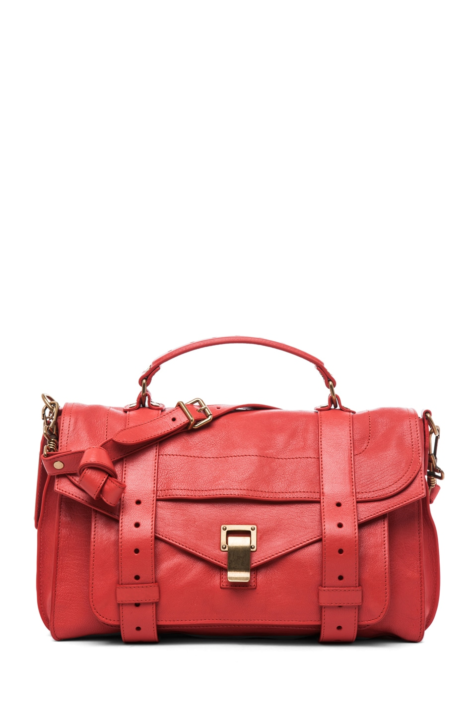 Image 1 of Proenza Schouler PS1 Medium Leather in Deep Coral