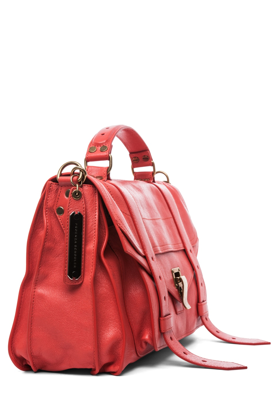Image 3 of Proenza Schouler PS1 Medium Leather in Deep Coral