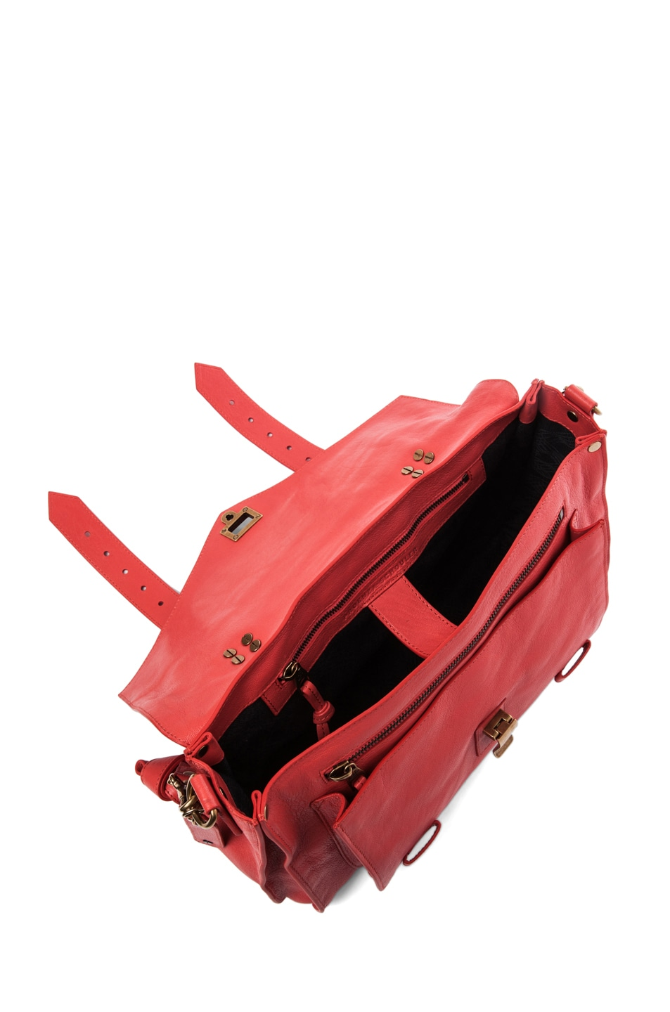 Image 4 of Proenza Schouler PS1 Medium Leather in Deep Coral