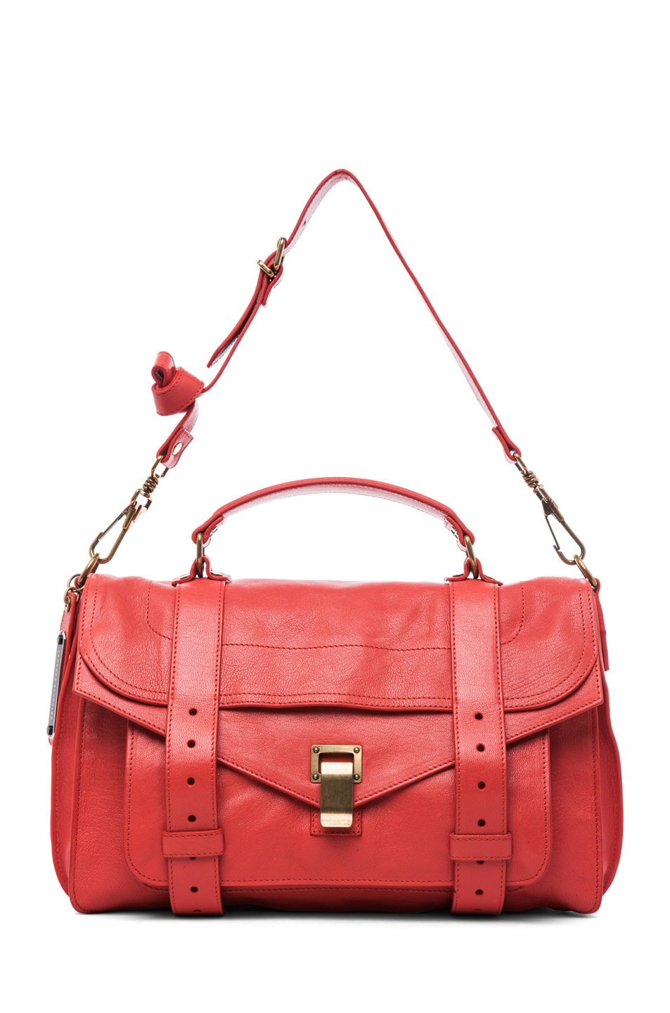 Image 5 of Proenza Schouler PS1 Medium Leather in Deep Coral