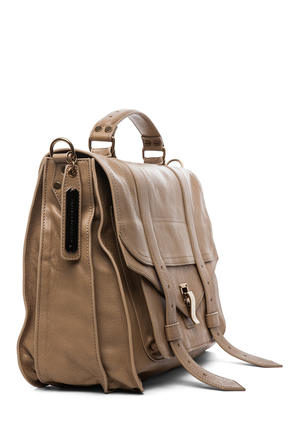 Image 3 of Proenza Schouler PS1 Large Leather in Sahara