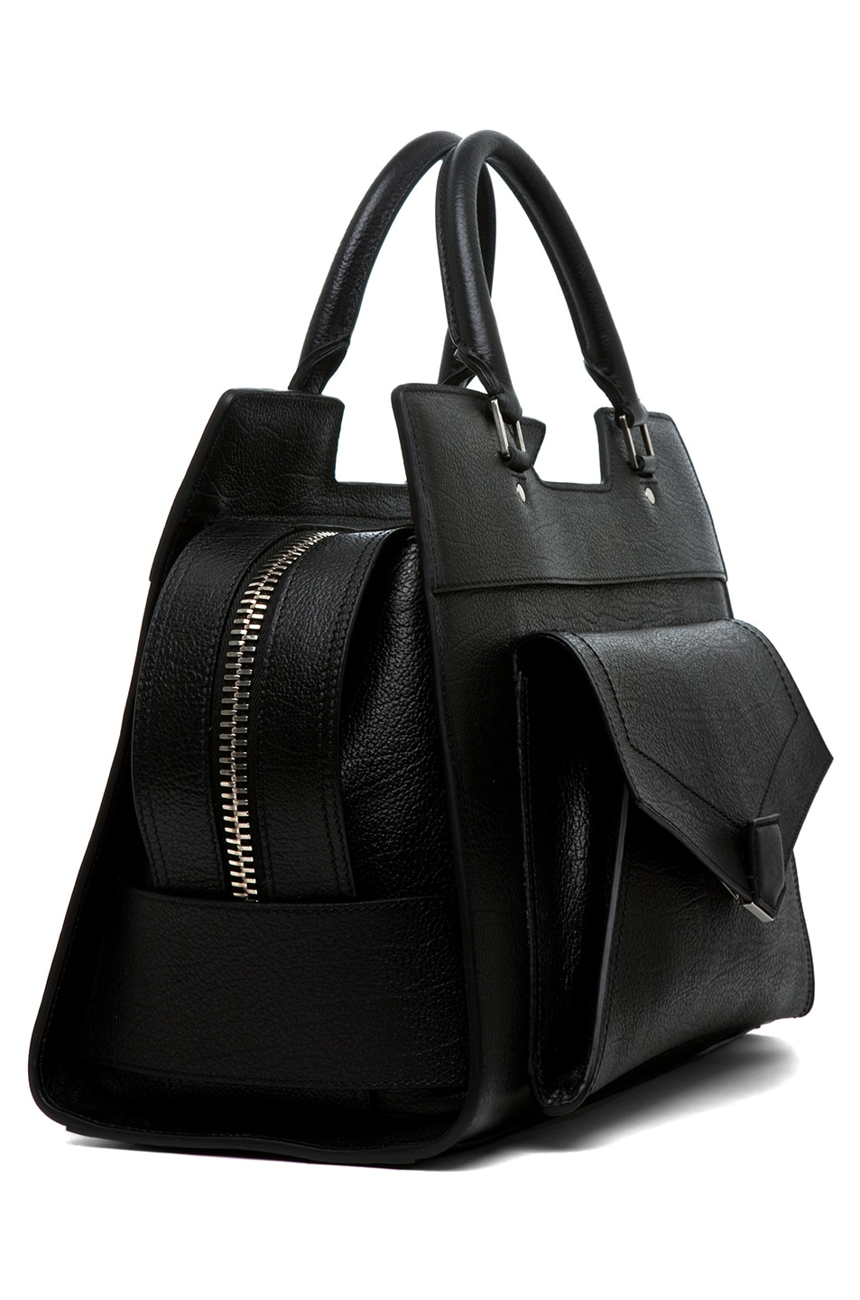Image 3 of Proenza Schouler PS13 Small Vacchetta in Black