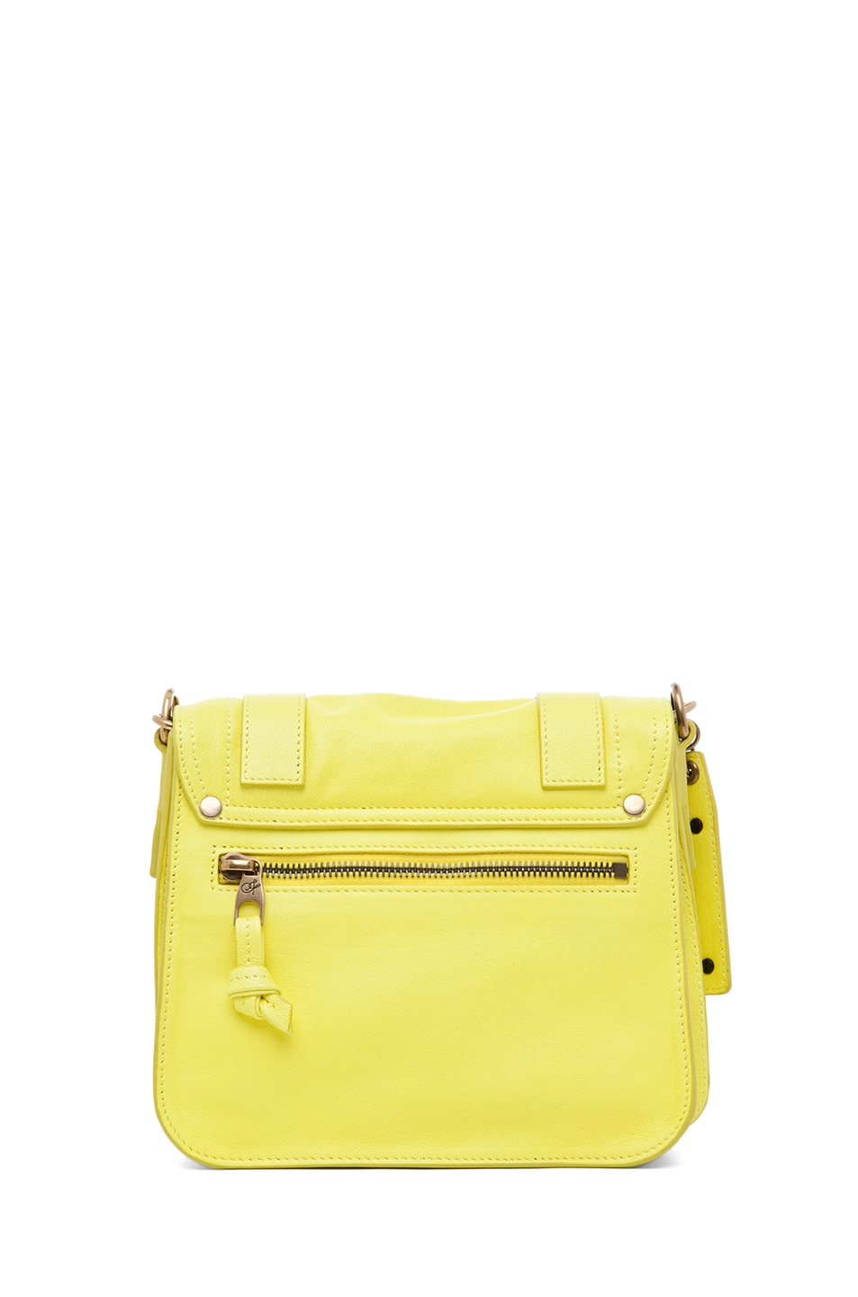 Image 2 of Proenza Schouler PS1 Leather Pouch in Sunshine