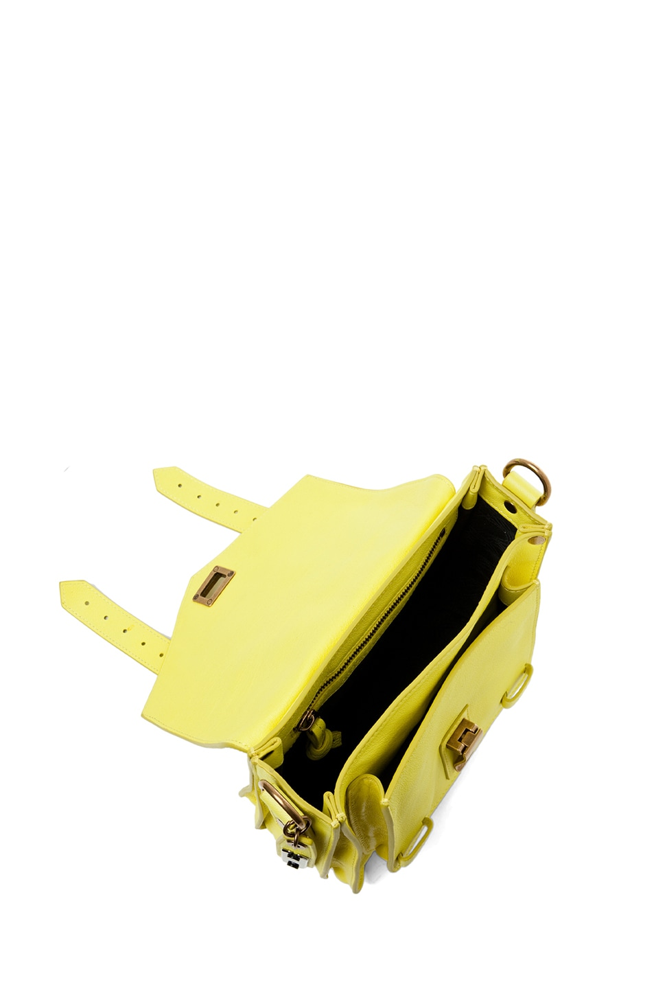 Image 4 of Proenza Schouler PS1 Leather Pouch in Sunshine