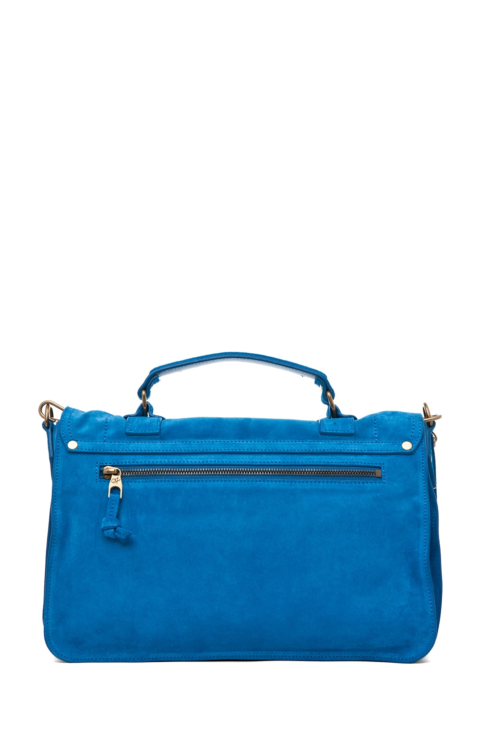 Image 2 of Proenza Schouler PS1 Medium Suede Satchel in Light Peacock