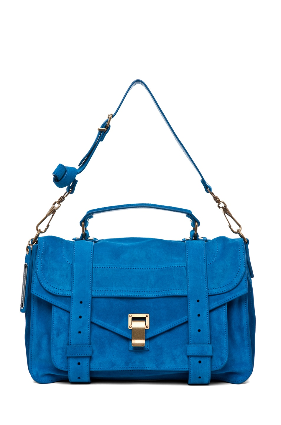 Image 5 of Proenza Schouler PS1 Medium Suede Satchel in Light Peacock
