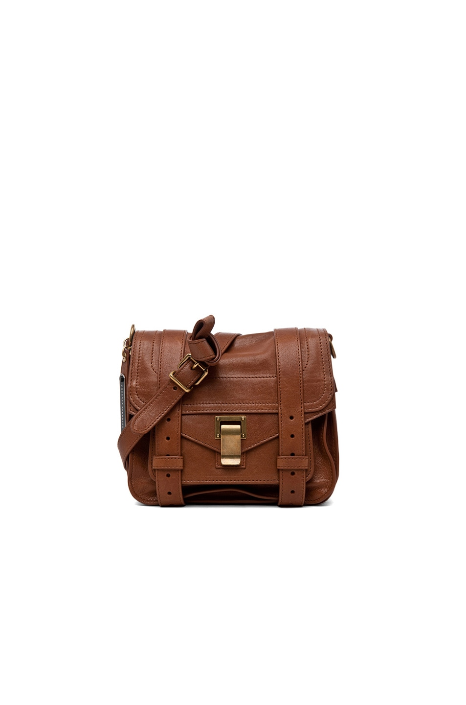 Image 1 of Proenza Schouler PS1 Leather Pouch in Saddle