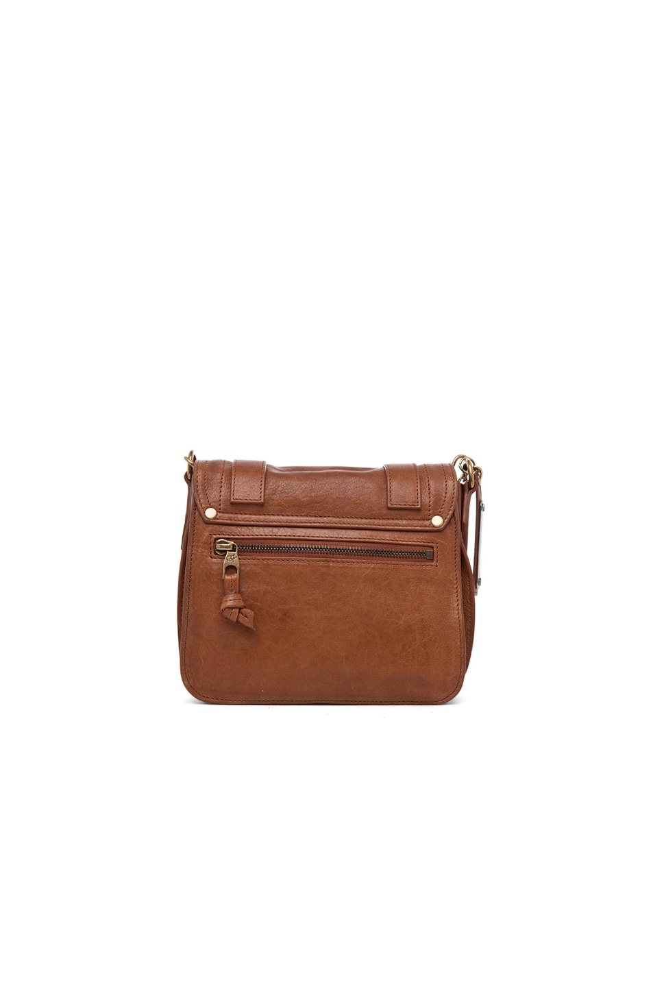 Image 3 of Proenza Schouler PS1 Leather Pouch in Saddle