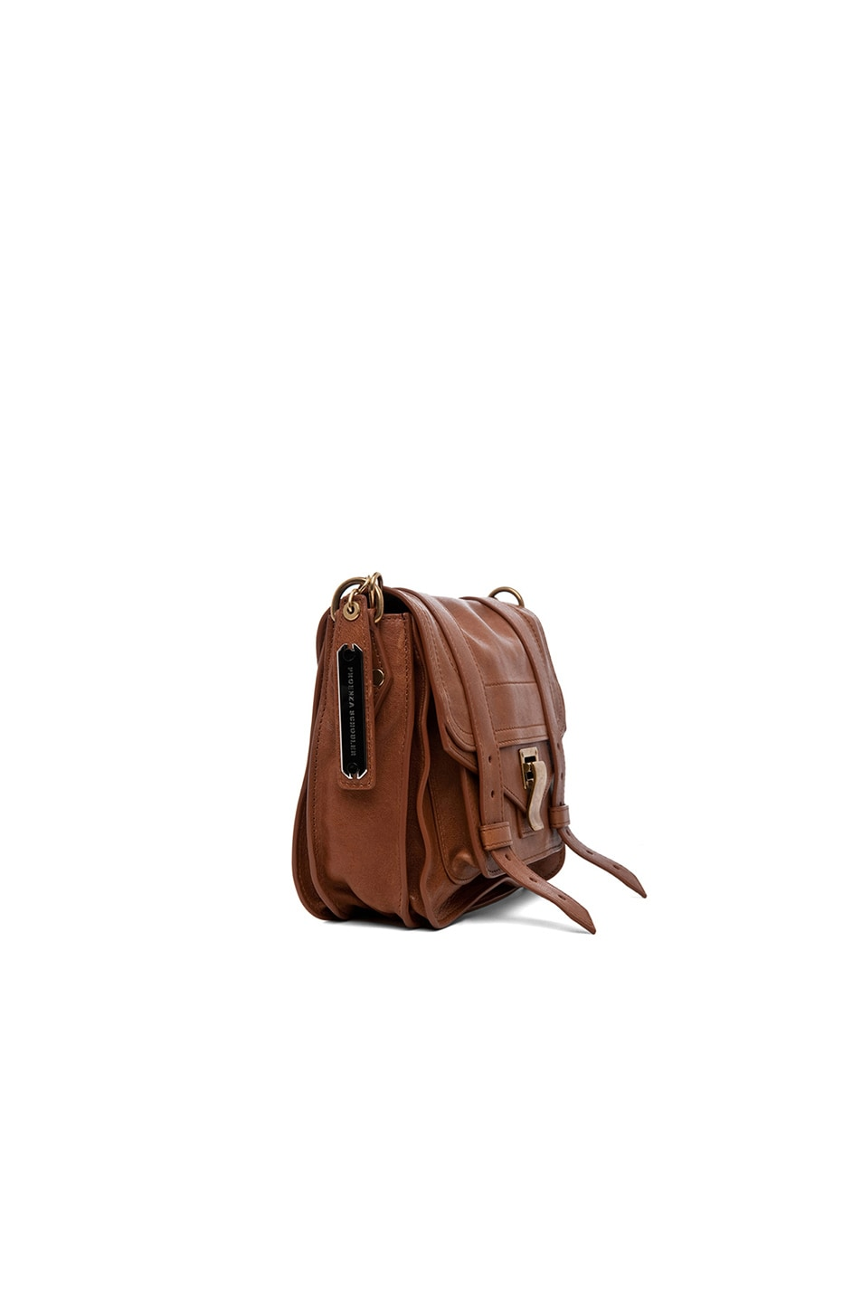 Image 4 of Proenza Schouler PS1 Leather Pouch in Saddle