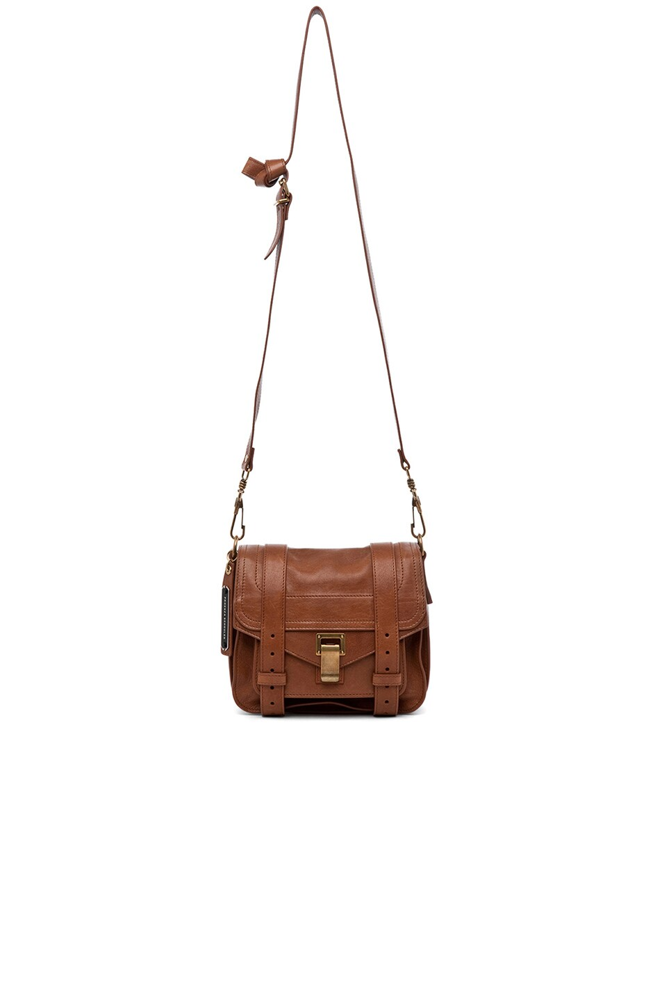 Image 6 of Proenza Schouler PS1 Leather Pouch in Saddle