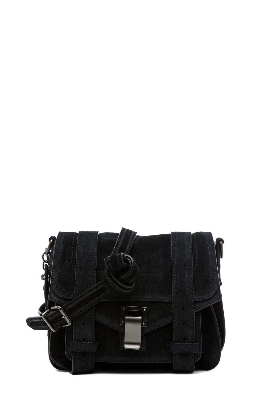 Image 1 of Proenza Schouler PS1 Suede Pouch in Black