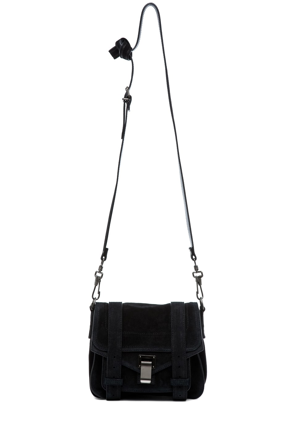 Image 5 of Proenza Schouler PS1 Suede Pouch in Black