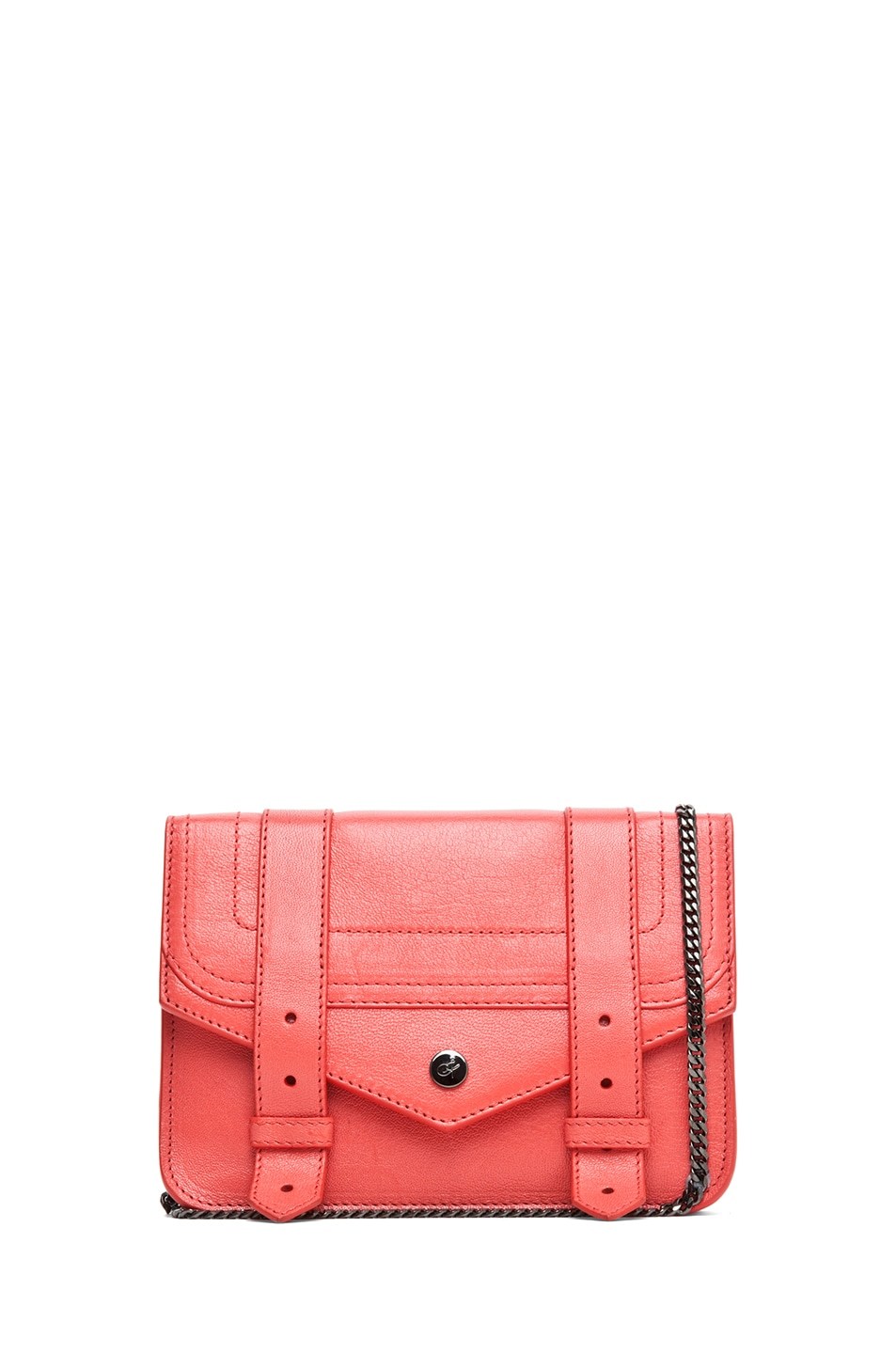 Image 1 of Proenza Schouler PS1 Large Chain Wallet in Deep Coral