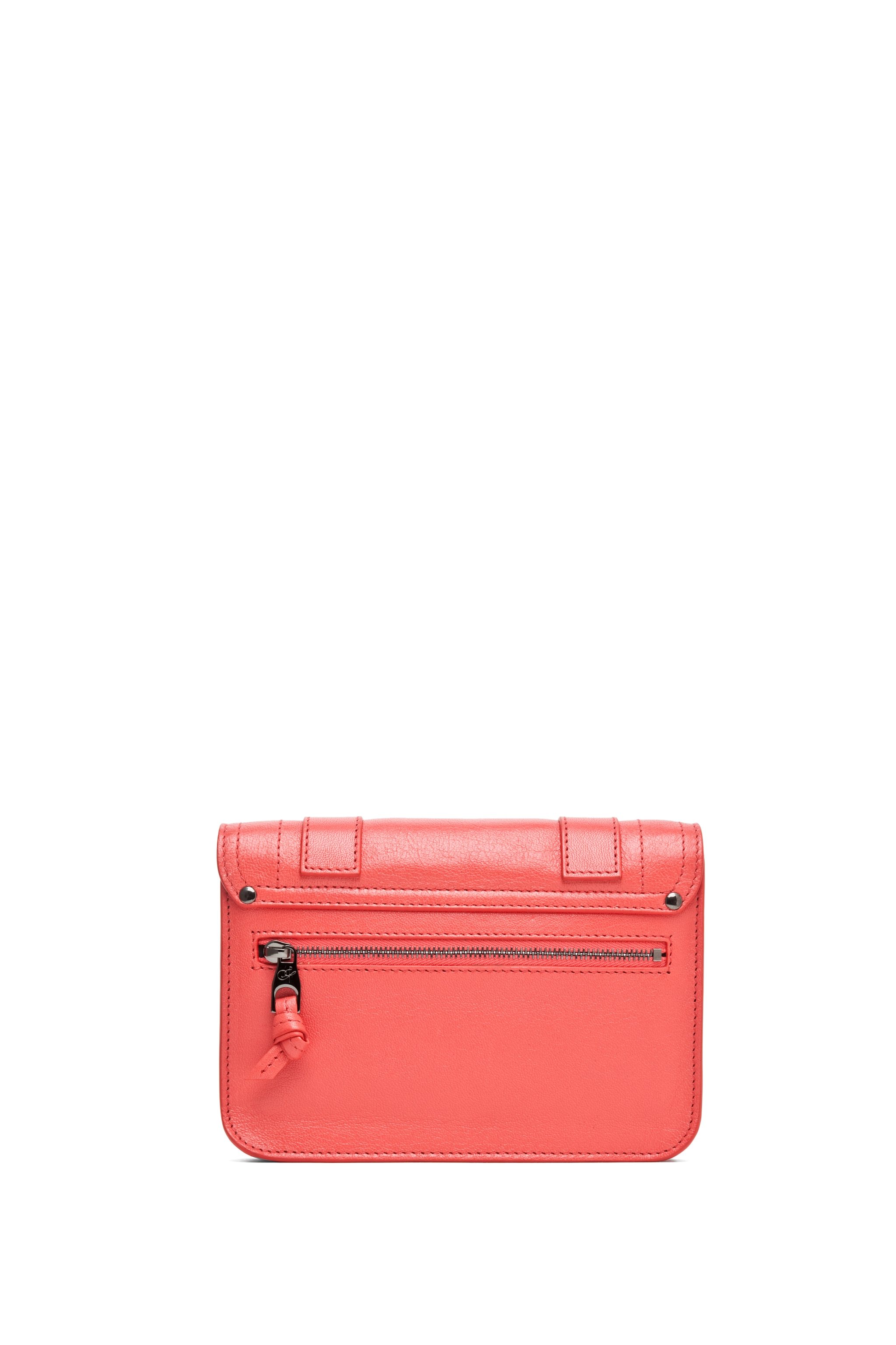 Image 2 of Proenza Schouler PS1 Large Chain Wallet in Deep Coral