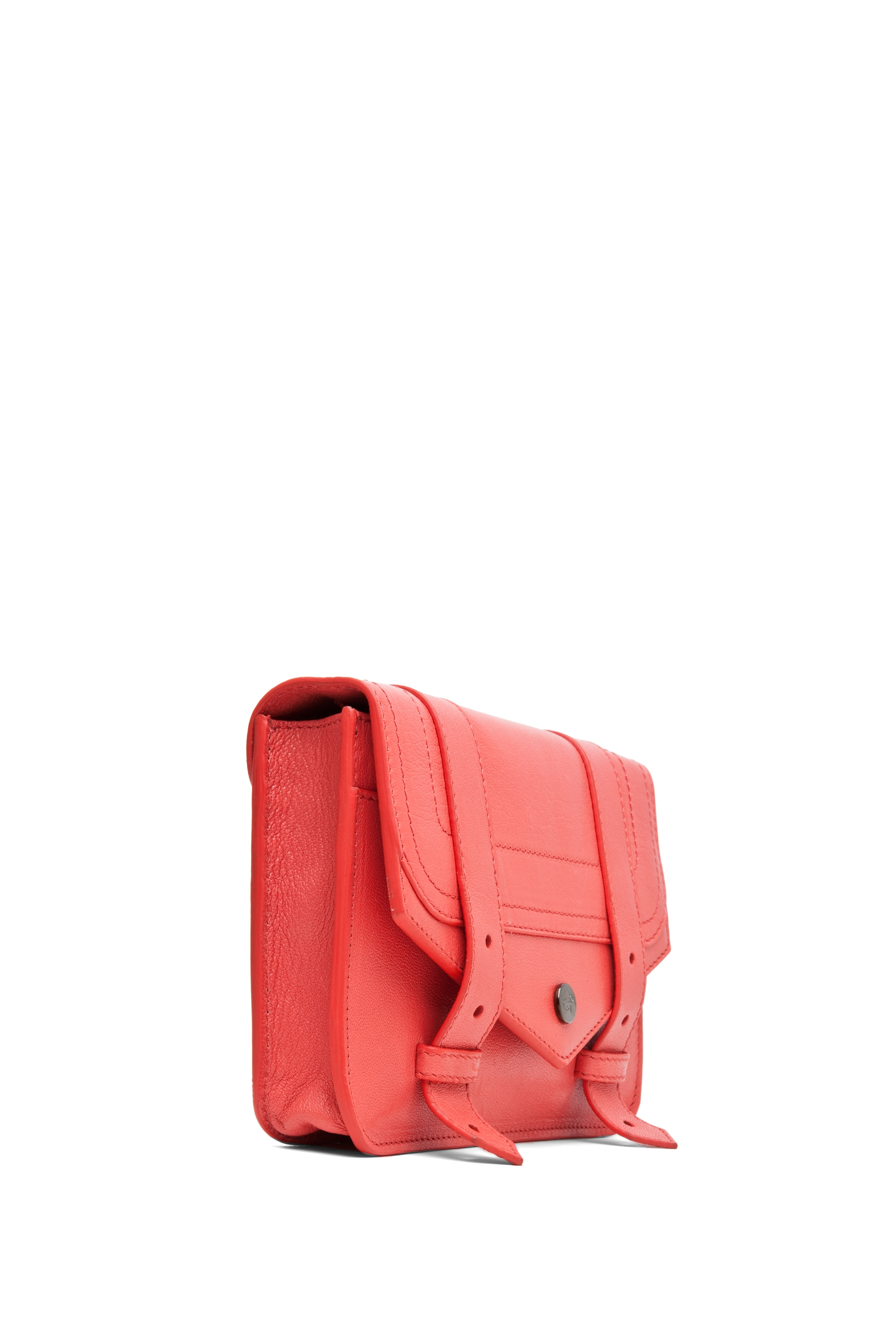 Image 3 of Proenza Schouler PS1 Large Chain Wallet in Deep Coral
