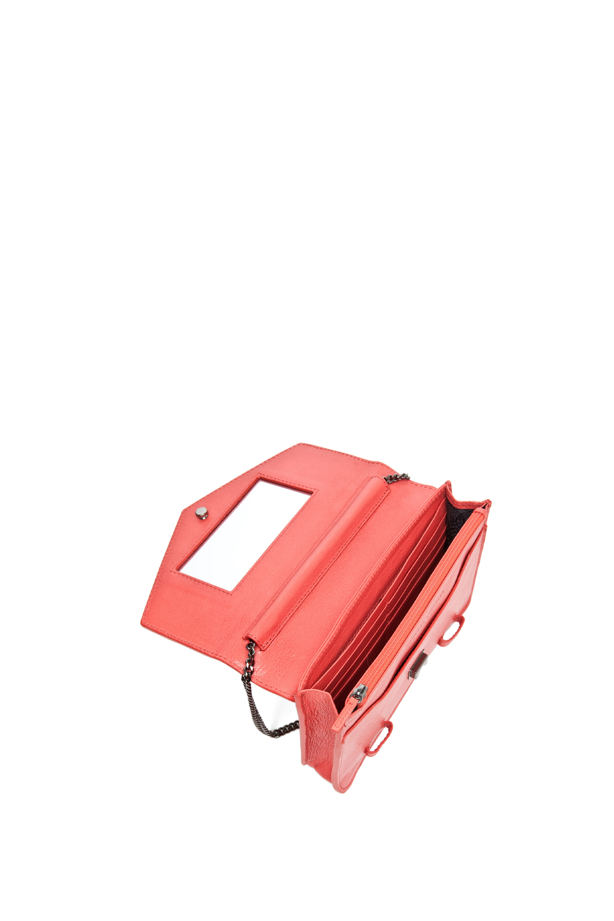Image 4 of Proenza Schouler PS1 Large Chain Wallet in Deep Coral