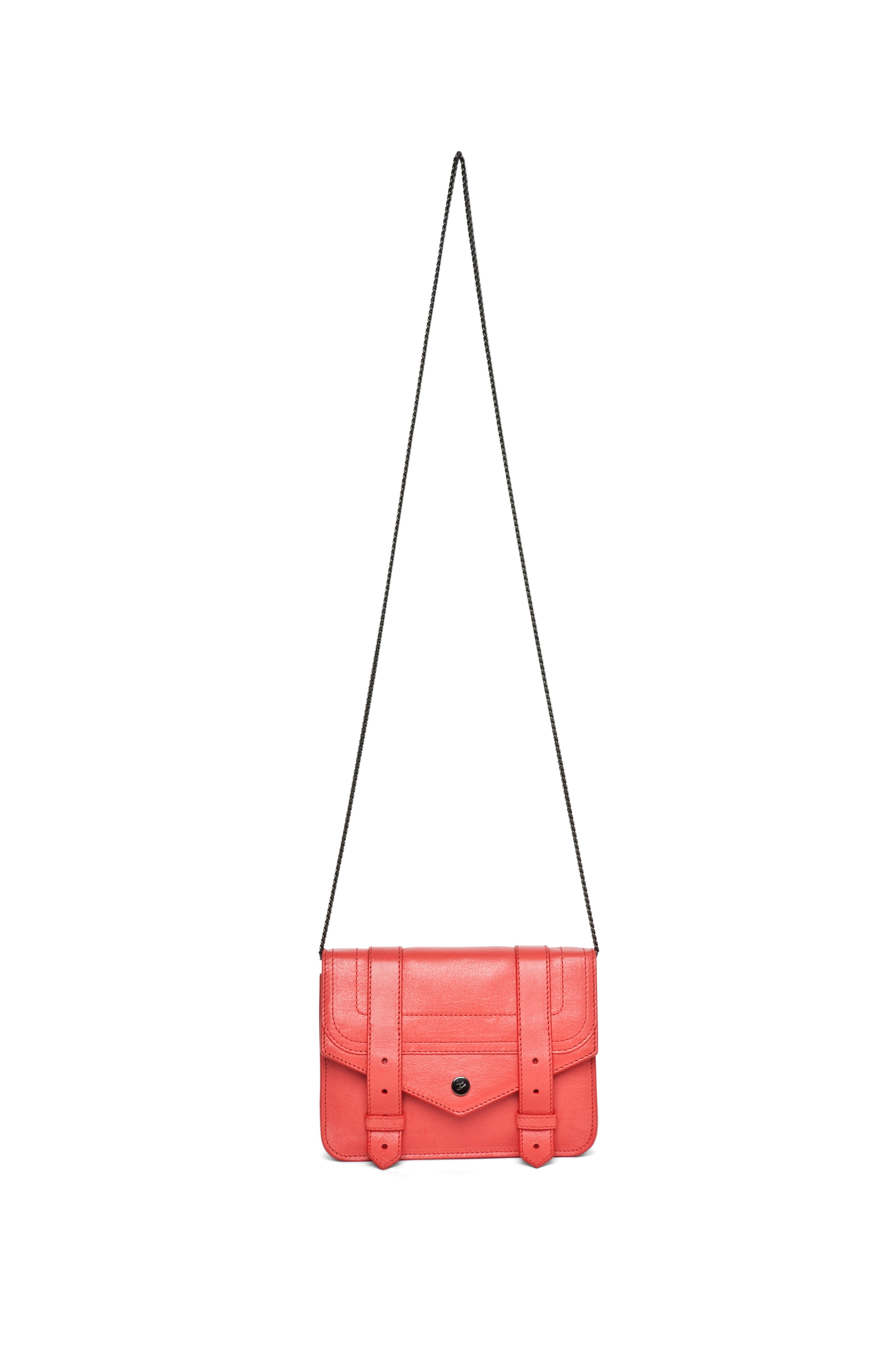 Image 5 of Proenza Schouler PS1 Large Chain Wallet in Deep Coral