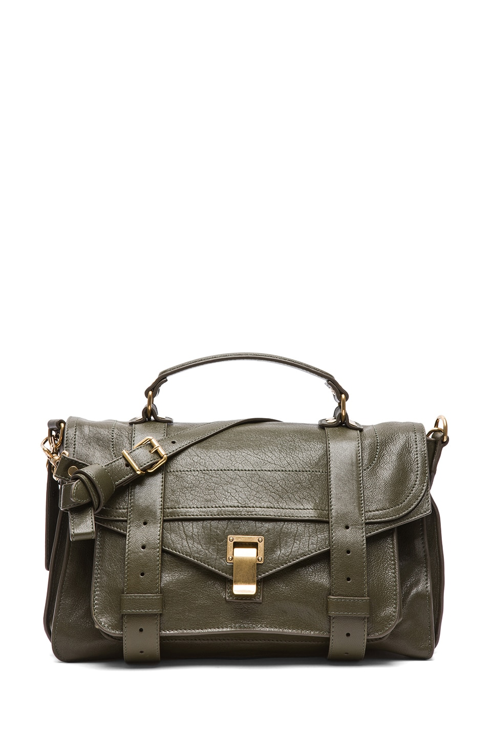 Image 1 of Proenza Schouler Medium PS1 Leather Satchel in Military