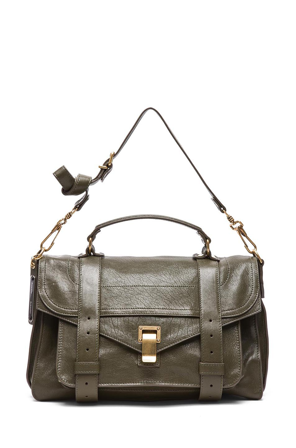 Image 5 of Proenza Schouler Medium PS1 Leather Satchel in Military