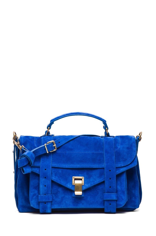Image 1 of Proenza Schouler PS1 Medium Suede in Royal Blue
