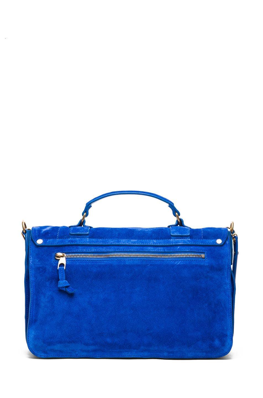 Image 2 of Proenza Schouler PS1 Medium Suede in Royal Blue