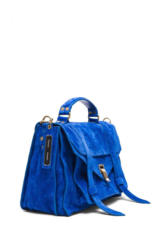 Image 3 of Proenza Schouler PS1 Medium Suede in Royal Blue