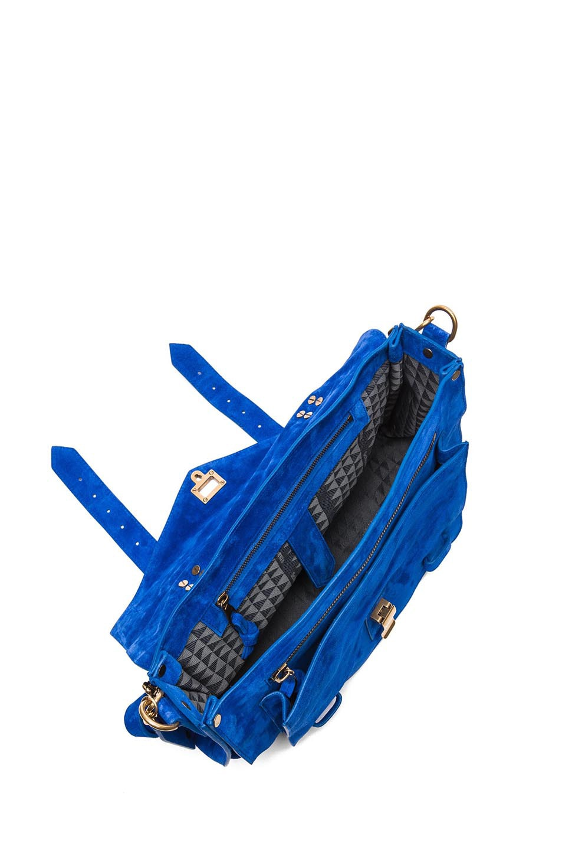 Image 4 of Proenza Schouler PS1 Medium Suede in Royal Blue