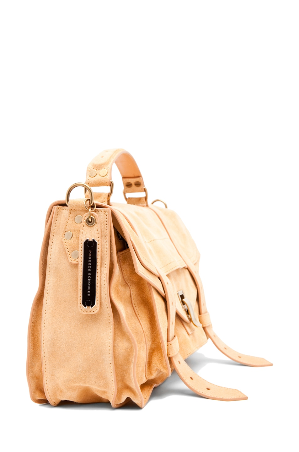 Image 3 of Proenza Schouler PS1 Medium Suede  in Melon