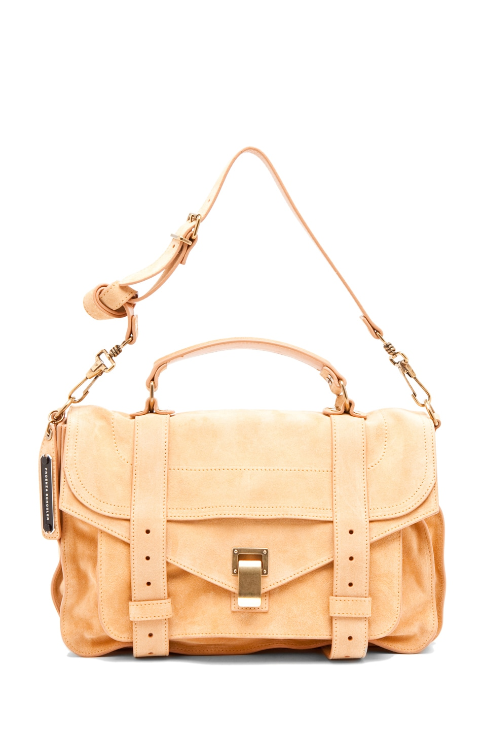 Image 5 of Proenza Schouler PS1 Medium Suede  in Melon