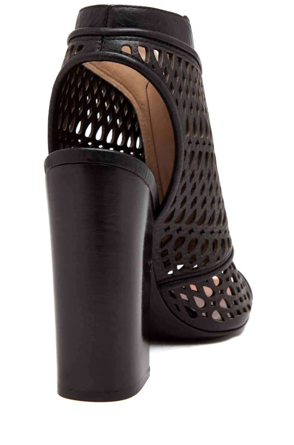 Image 3 of Proenza Schouler Zip Front Laser Cut Bootie in Black