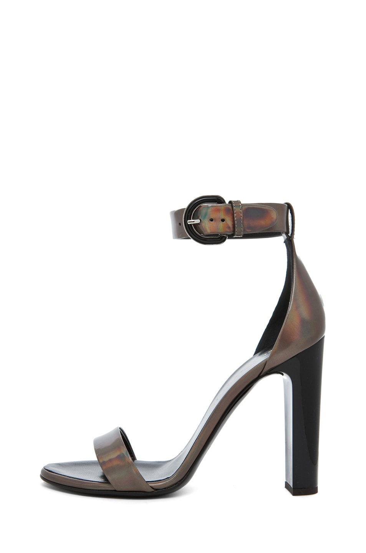 Image 1 of Proenza Schouler Taz Dandy Ankle Strap Heel in Metallic Hologram