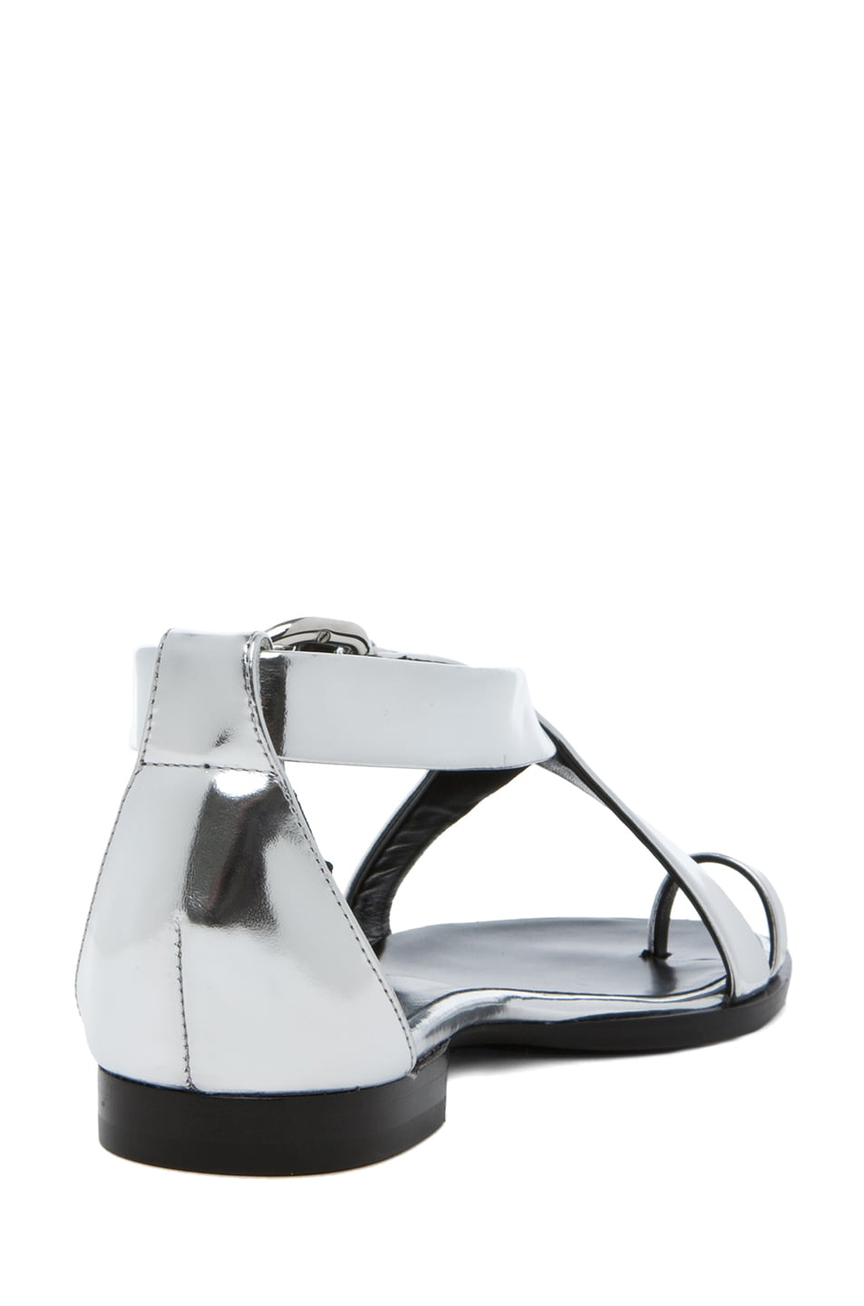 Image 3 of Proenza Schouler Sam Mirror Cross Strap Sandal in Mirror Silver