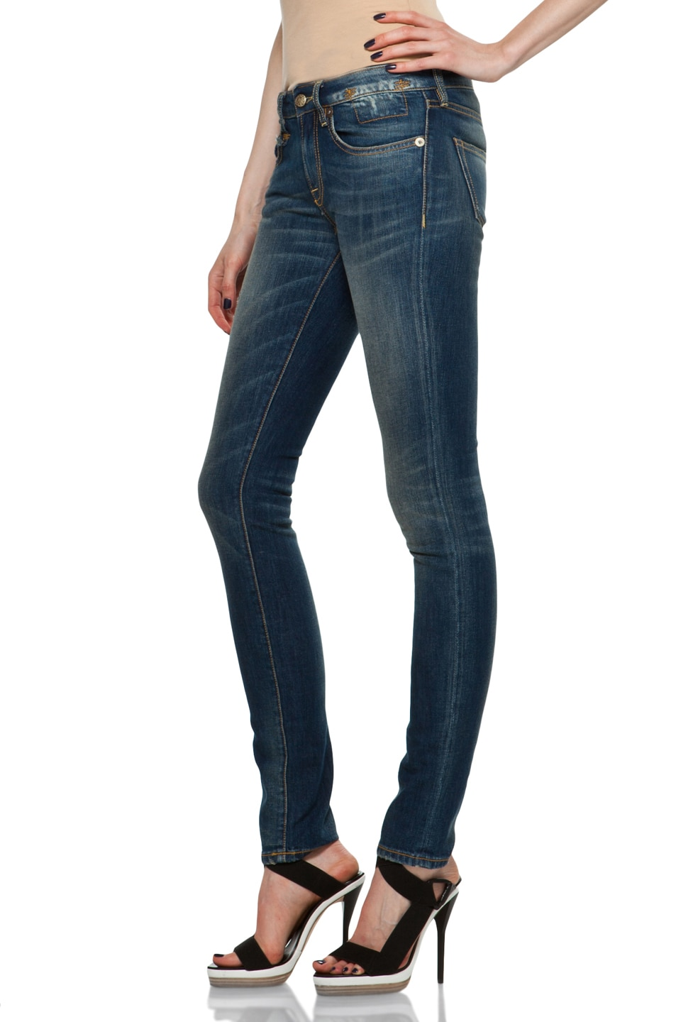 Image 2 of R13 Skinny in Medium Blue