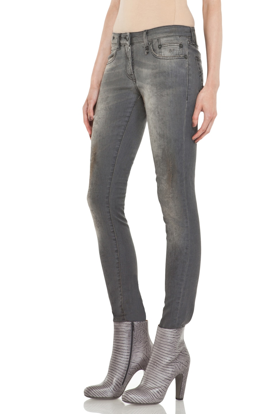 Image 2 of R13 Skinny Jean in Dirty Grey