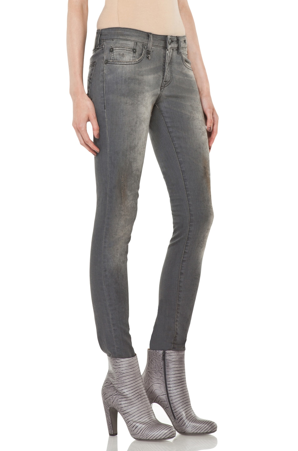 Image 3 of R13 Skinny Jean in Dirty Grey