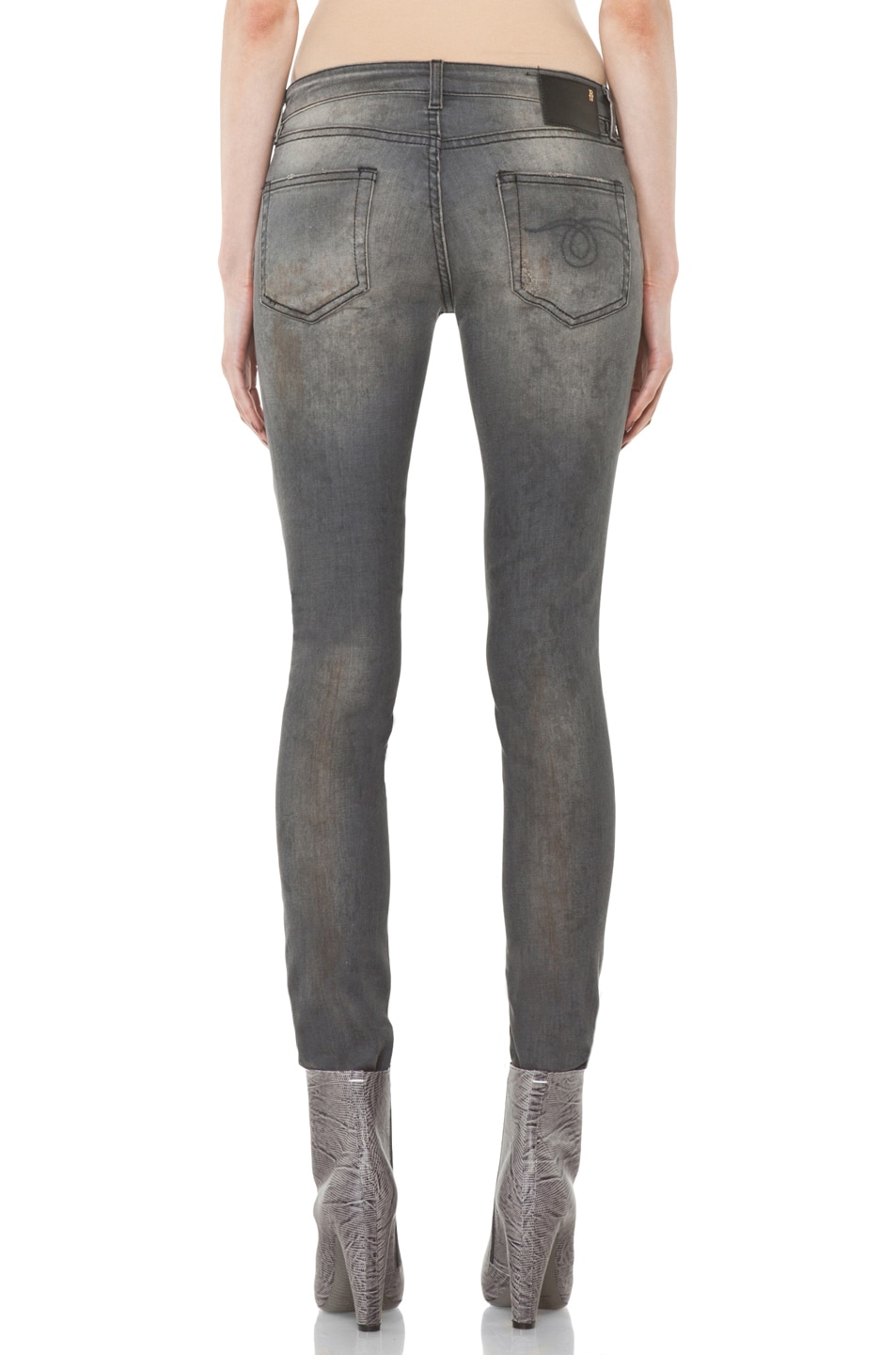 Image 4 of R13 Skinny Jean in Dirty Grey