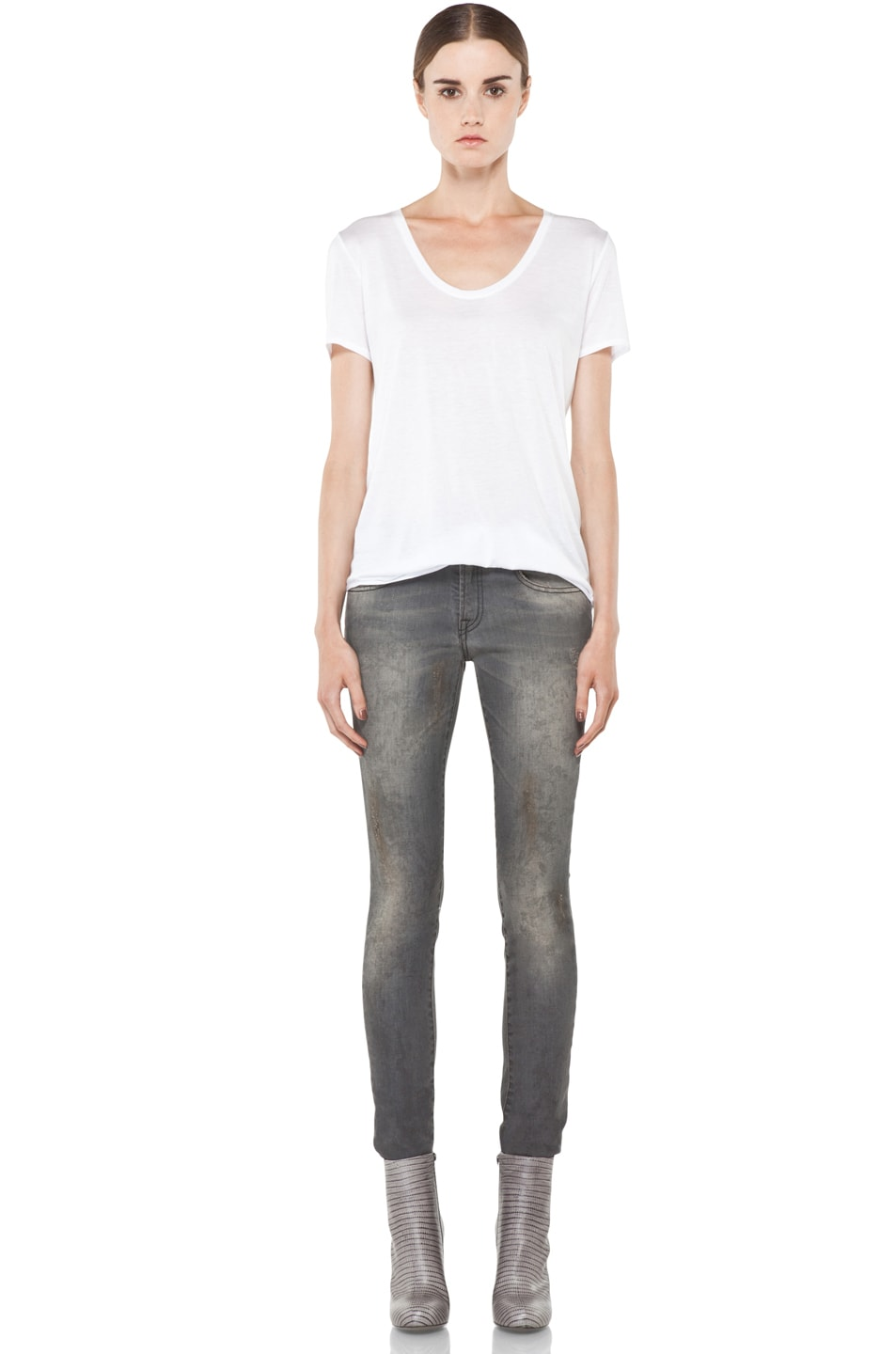 Image 5 of R13 Skinny Jean in Dirty Grey