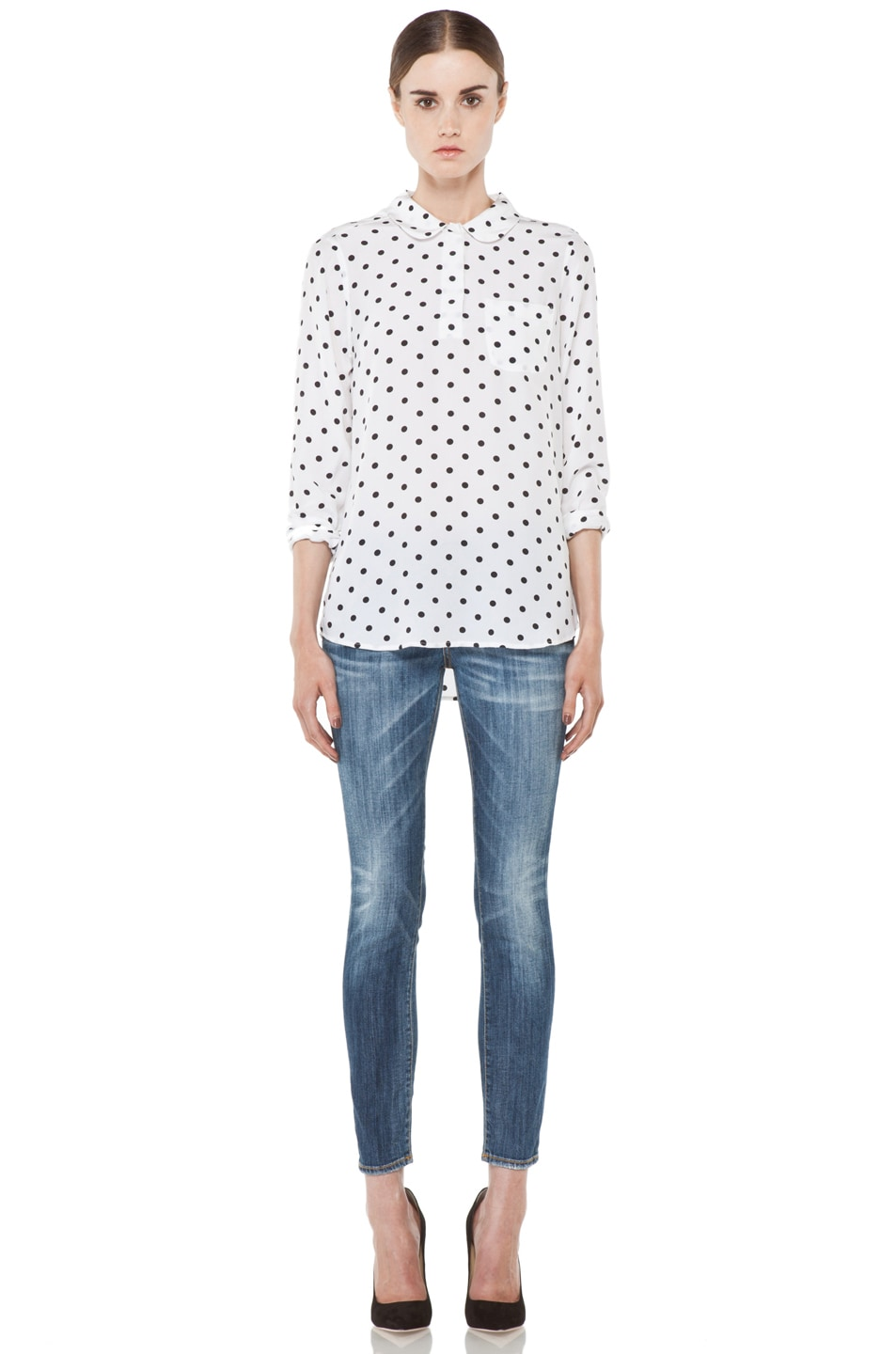 Image 5 of R13 Low Skinny Cropped Jean in Faded Blue