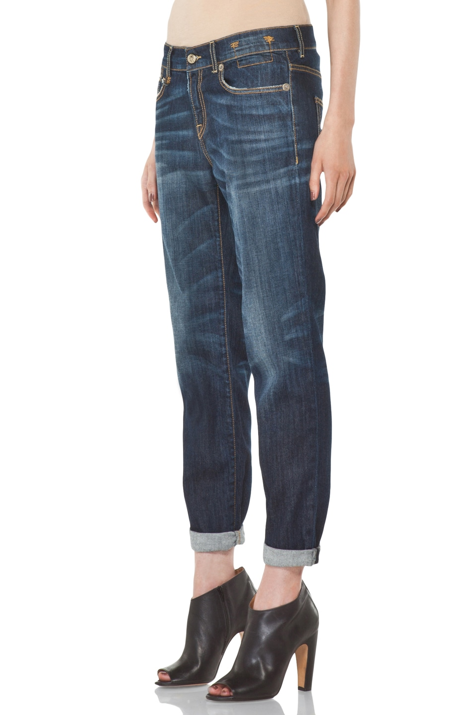 Image 2 of R13 Relaxed Skinny Jean in Dirty Dark