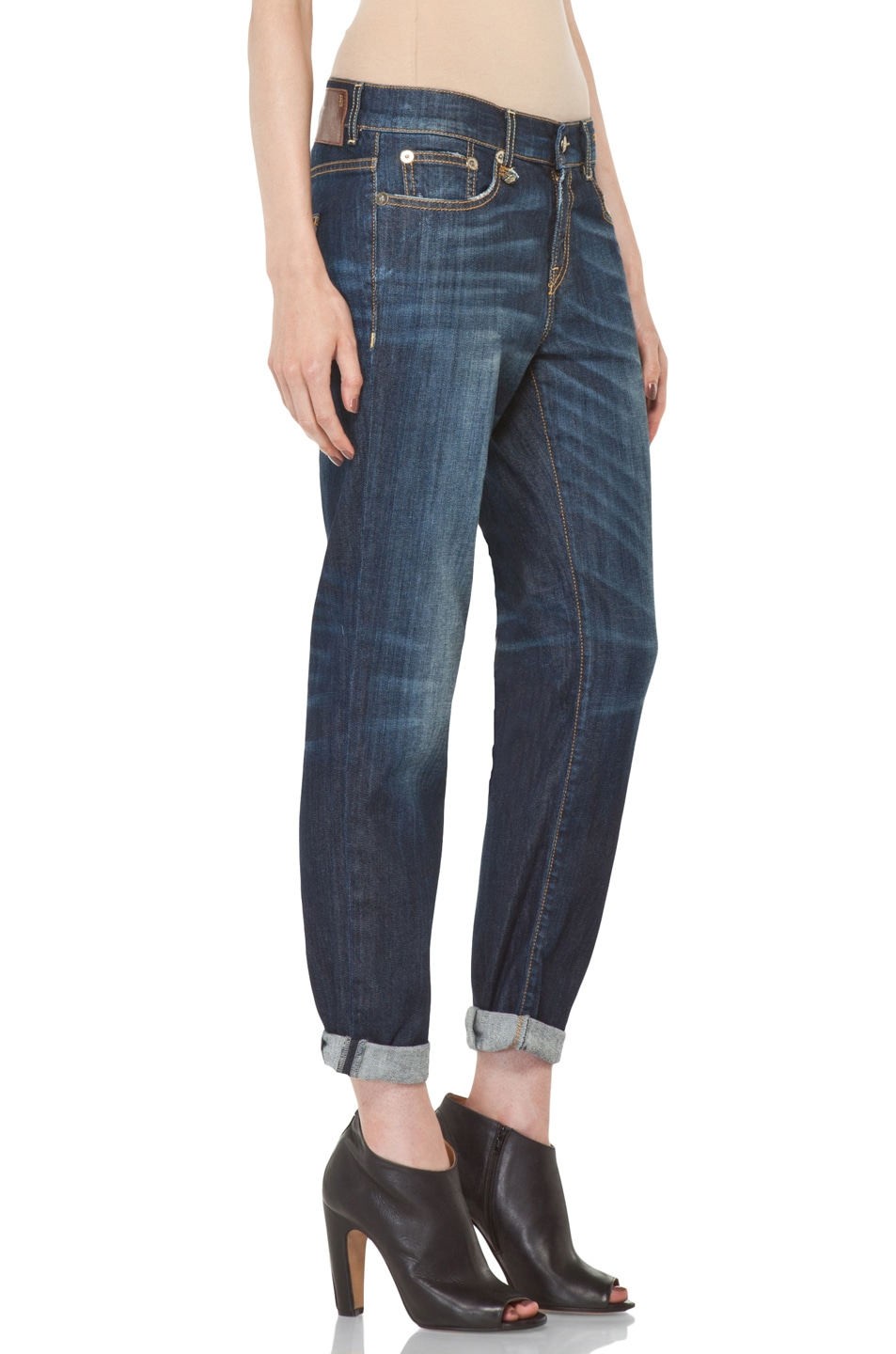 Image 3 of R13 Relaxed Skinny Jean in Dirty Dark